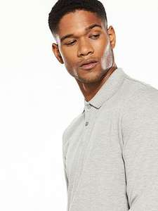 'V by Very' Long Sleeve Pique Polo 50% OFF £10 @ Very.co.uk - Free c&c