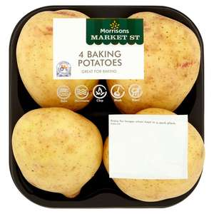 Pack of 4 baking potatoes ,offer price 50p @ Morrison's