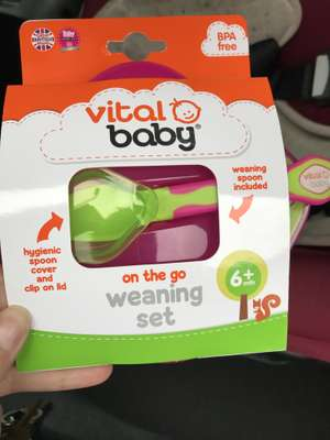 Vital baby weaning set 50p instore @ Boots (Birmingham)
