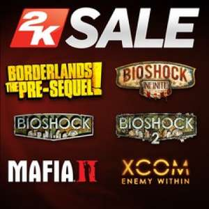 2K Publisher Sale at PlayStation PSN US Store *NBA2K18, MAFIA 3, Borderlands, XCOM2, BioShock, WWE2K18 and more from £5.39