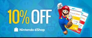 10% off ALL Nintendo eShop vouchers (USA & Canada) PCGameSupply