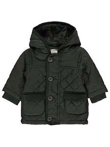 Shower resistant Hooded quilted & fully fleece lined coat ages upto 9-12 months,now £6 @ asdageorge