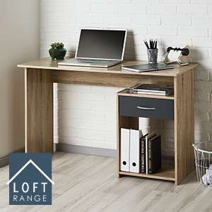 Loft Range Oak Effect Finish Computer/Laptop Desk £34.99 on Home Bargains
