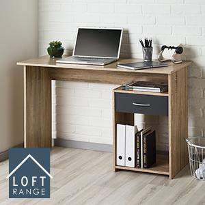Loft Range Oak Effect Finish Computer/Laptop Desk £34.99 on Home Bargains