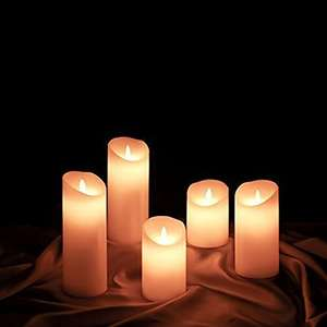 """Etronic Real Wax 3D Dancing Flame Flickering Flameless Battery Powered LED Pillar Dripless Motion Candle, 3"""" x 4"""", Ivory, 3"""" by 4"""" £3.99 Prime / £7.98 Non Prime Sold by E Depot Express EU and Fulfilled by Amazon"""