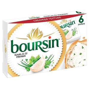 Boursin 6 portion cheese 96g - 50p @ Herons