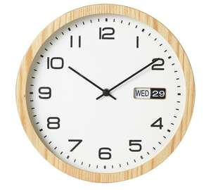 Oak finish day & date clock was £19.99, Further reduced to £8.99 @ argos
