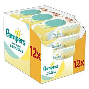 Pampers New Baby Sensitive Wet Wipes, Pack of 12 £7.45 Prime Exclusive @ Amazon