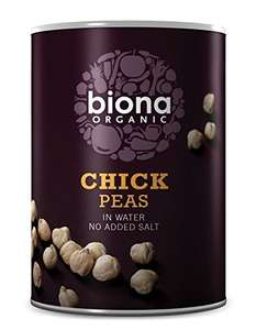 Biona Organic Chickpeas 400g (Pack of 6) - £1.09 @ Amazon (Prime Exclusive)