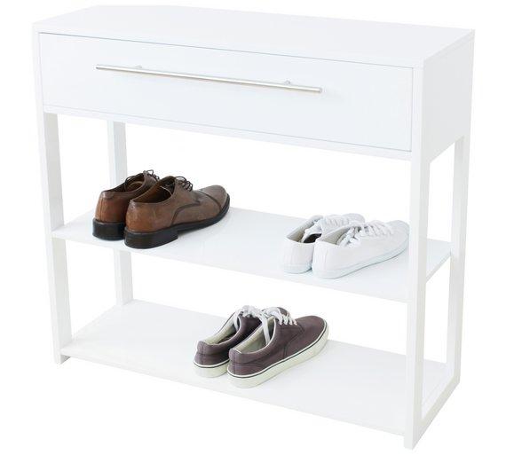 Hygena Lydiard Gloss Console Table - White - £45.99 @ Argos