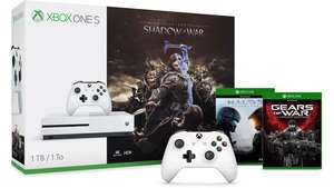 Xbox One S Shadow of War Bundle + Halo 5:Guardians + Gears of War 4 +Extra controller £259.99 @ MSStore