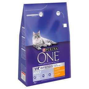 Purina one 3kg dry cat food £11 at Waitrose