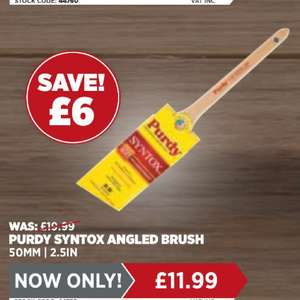Purdy brush offers @ Leyland instore - purdy syntox angled brush at £11.99