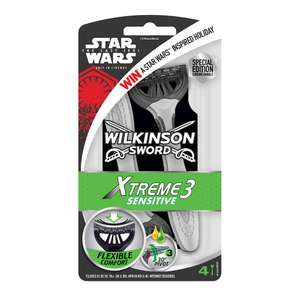 £2 Star Wars Wilkinson Sword Razor Xtreme 3 Sensitive 4pk at Wilko