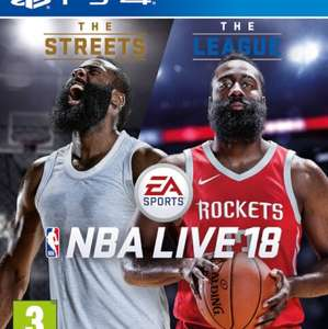 NBA Live 18 for PS4 from PlayStation PSN Store US £3.22 using PS Plus or 2 day trick