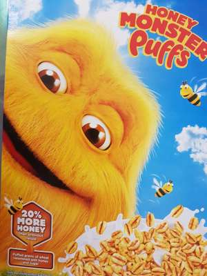 Honey monster puffs 600g £1 @ farmfoods