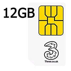 Three 12m Advanced sim - 12GB/Unlimiteds £9pm from £15pm (with £72 redemption cashback) at MobilePhonesDirect.co.uk