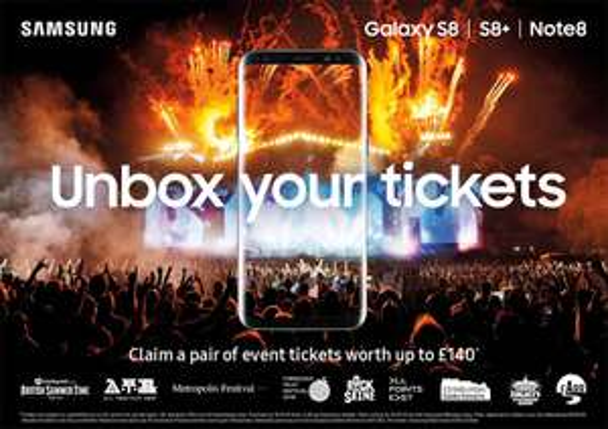 New Samsung Galaxy S8 [No upfront Cost], Ultd Mins, Ultd Texts, 30GB Data + Free Gig Tickets £34 / 24mths - Three at MobilePhones Direct