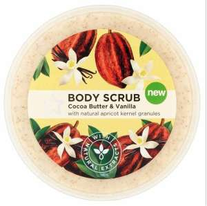 Superdrug naturals body scrub 200 ml cocoa and vanilla £1