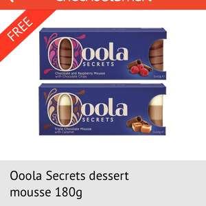 FREE Oola desserts (£2.39) via TESCO using Checkout smart app