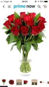 Fabulously Floral Short Stem Red Roses Bouquet, 12 Stems £1 @ Amazon prime now (Minimum delivery requires a £15 spend)
