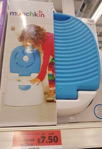 3 in 1 munchkin potty £7.50 instore at Sainsburys