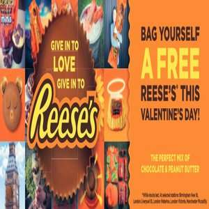 Free Reese's chocolates at selected train stations - Birmingham / London / Manchester