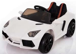 LAMBORGHINI AVENTADOR STYLE 12V RIDE ON CHILDREN'S ELECTRIC CAR. Was £199.95 now £99.95 delivered @ Fun4Kids