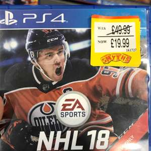 NHL 18 and NBA Live 18 PS4 £19.99 at smyths Instore