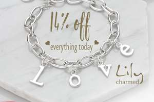 14% off Jewellery Today and Tomorrow with Voucher Code @ Lily Charmed