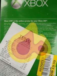 Xbox Live Gold 12 Months £9.99 @ Tesco, Fleets Bridge, Poole.