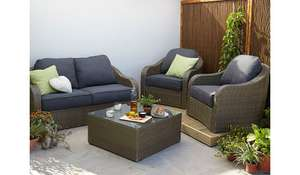 Borneo 4 piece conservatory - outdoor set was £599.00 now £299.50 @ asda