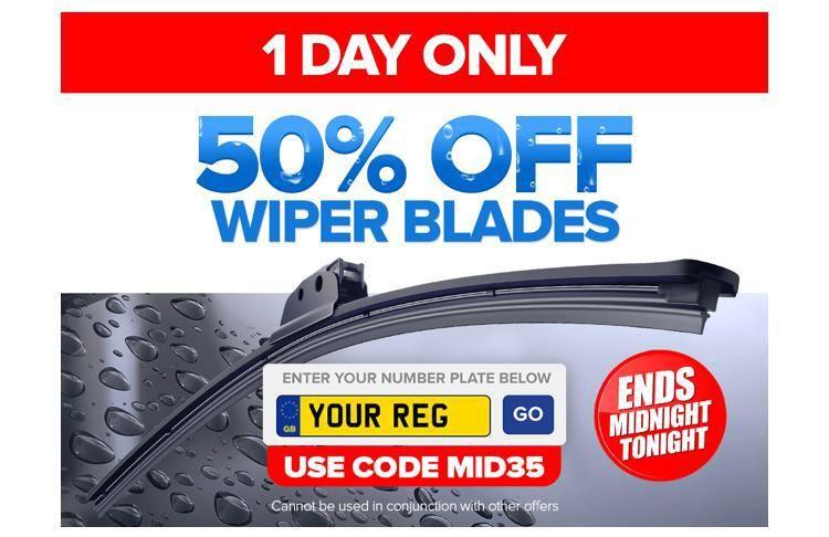 50% Off Wiper Blades at Eurocarparts