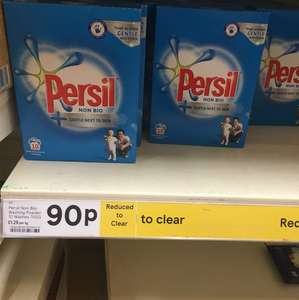 Tesco-Altrincham persil non bio washing powder now 90p instore from £3.00