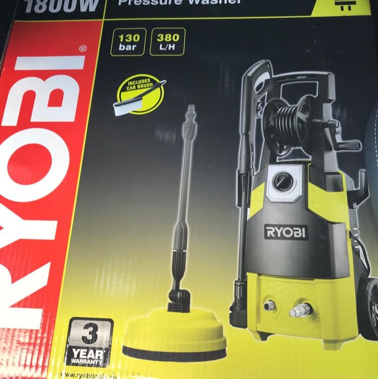 Ryobi 1800w 130bar pressure washer with home kit £79.99 @ Hombase - bridgend