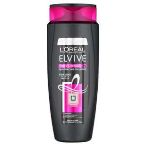 L'Oreal Elvive Triple Resist Shampoo 700ml £2.50 at Morrisons