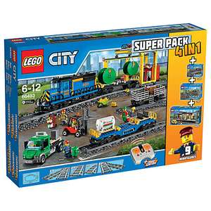 LEGO City 66493 Remote Control Cargo Train 4 in 1 Super Pack £160.00 John Lewis