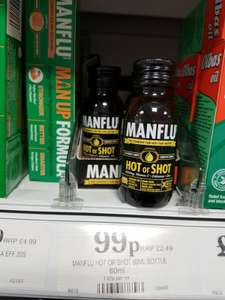 Man Flu Comfort Drink reduced from £2.49 - 99p Found in Home Bargains