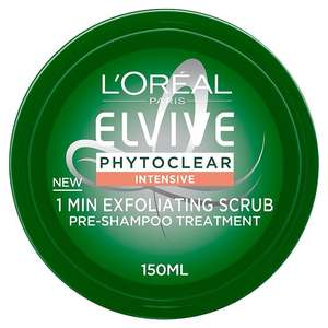 L'Oreal Elvive Phytoclear Intensive Treatment 1Min Purifying Scrub 150ml £3 at Morrisons