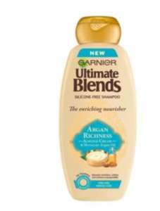 Garnier Ultimate Blends Argan Oil & Almond Cream Dry Hair Shampoo - £2 @ ASDA