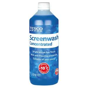 Tesco instore Concentrated  -10 Screenwash  1Lt -  50p
