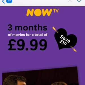 3 months now TV movies £9.99