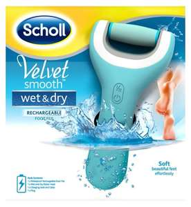 Scholl Velvet Smooth Wet & Dry Foot File Rechargable £19.99 @ Boots - Free Click & Collect