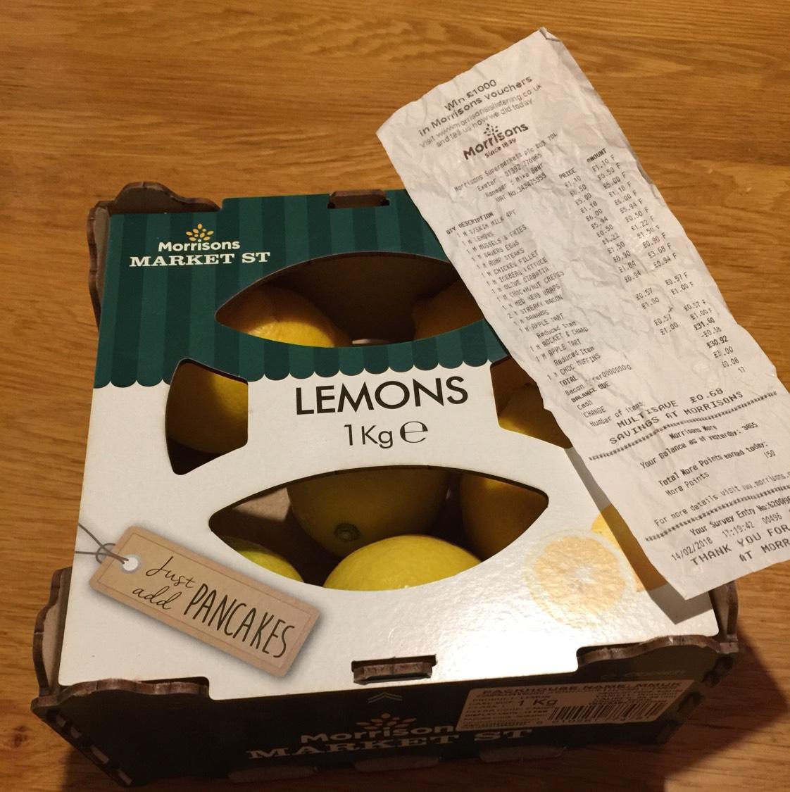 1kg box of Lemons... 50p instore @ Morrisons.