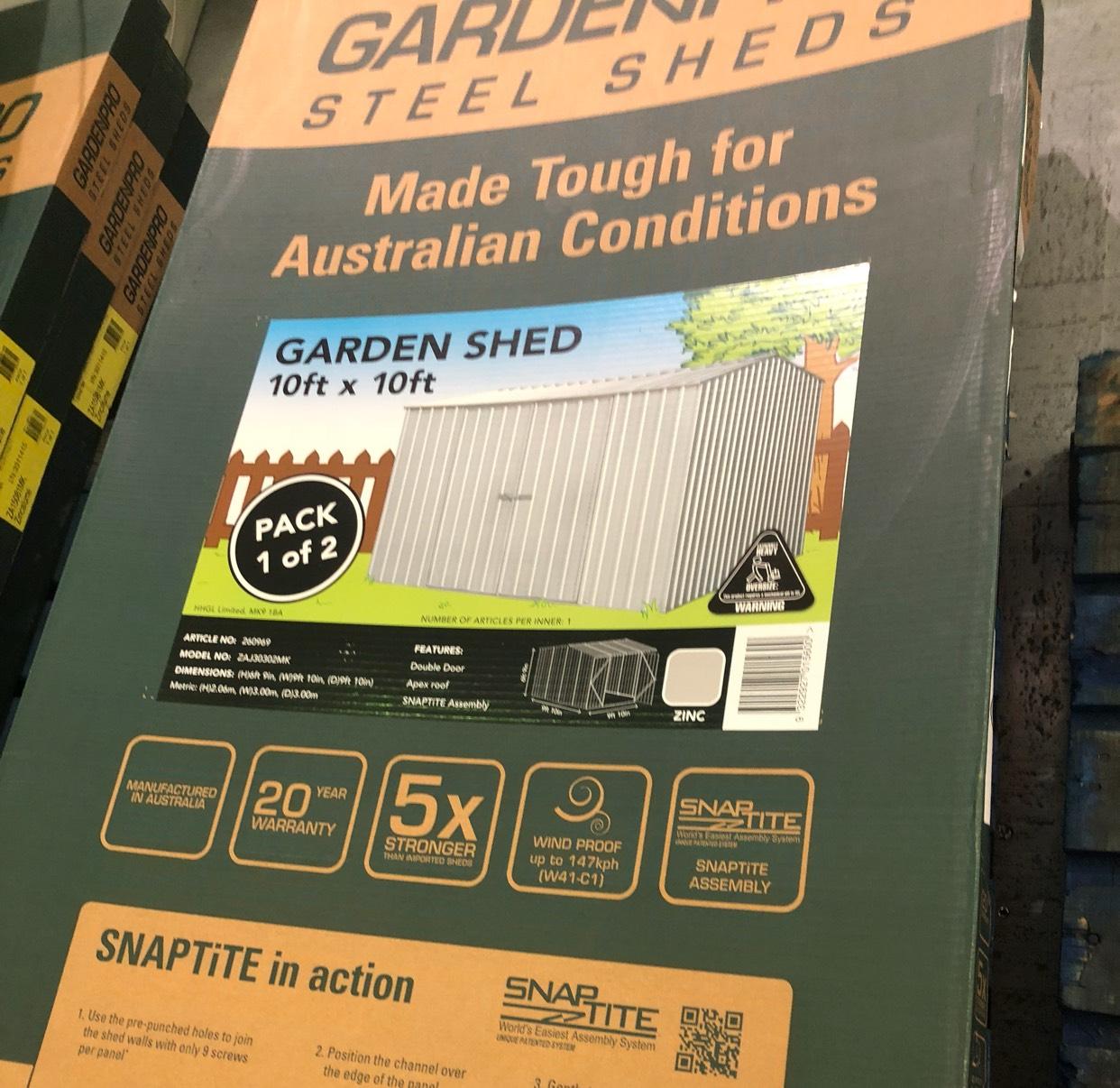 Metal garden shed £100.01 instore @ Homebase Ayr