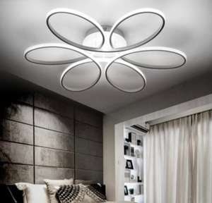 EverFlower Modern Simple Floral Shape LED Semi Flush Mount Ceiling Light With Max 75W Painted Finish £63.12 - Gearbest
