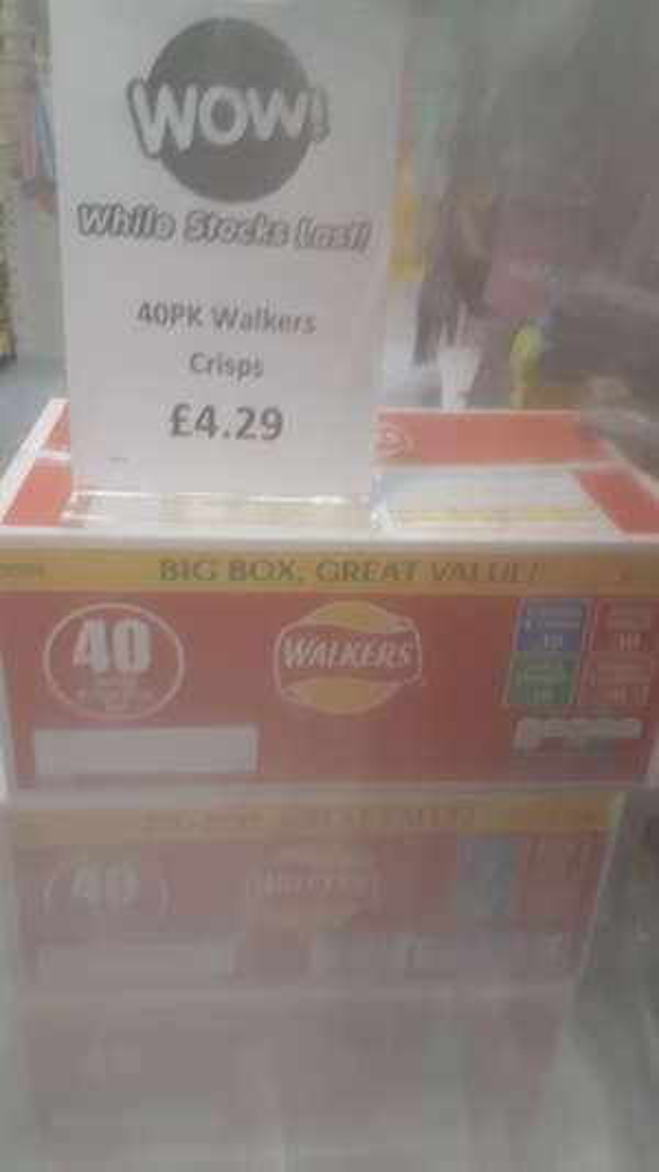 Walkers crisps box of 40 - £4.29 @ B&M