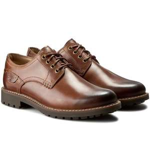 Clarks Montacute Hall men's brown OR black leather derby shoes from £44.99 @ Amazon (RRP £80)