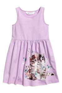 H&M kids' sleeveless jersey dresses £2.57 delivered for H&M club members (free to join), many prints and sizes available