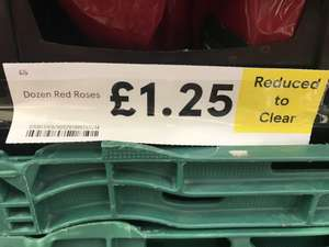 All Valentines Day Flowers Reduced by 75% e.g Dozen Red Roses for £1.25 @ Tesco instore